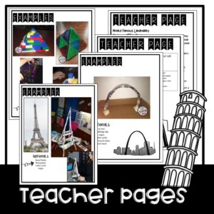 STEM Famous Landmarks Bundle~ Supply List